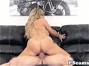 Alyssa Lynn bouncing her large melons