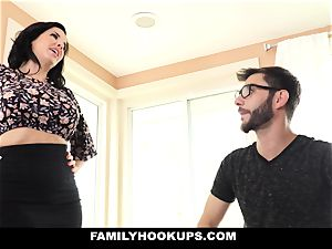 FamilyHookups - steamy mummy trains Stepson How To boink