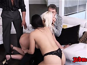 huge-chested mummy 4 way romping until climax