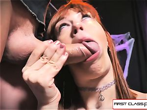 first-ever Class point of view - Alexa Nova throating a ginormous fuckpole in point of view