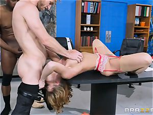 Britney Amber getting group plumbed