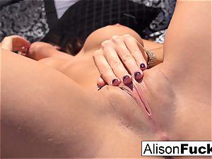 Alison posing naked in sofa