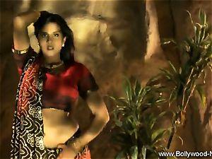 Indian dark-haired Dance Gracefully
