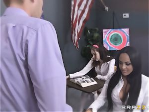 Mammoth rod fucks college girl Kimberly Kendall on the professors desk