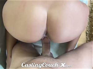 audition Couch-X nicely-shaped farm chick enjoys bang-out for cash