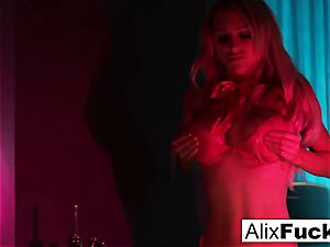 Alix Lynx with a bootie butt-plug