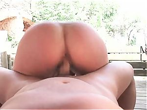 Gigi love drilled by the pool