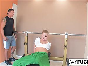 Avy Scott gets a fucking with her exercise routine