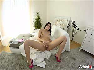 fur covered busty Angel Wicky on webcam
