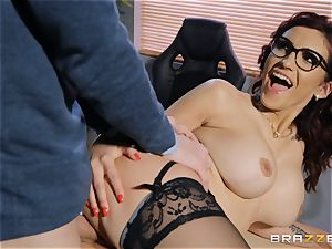 Amina Danger getting ravaged by a thick trouser snake