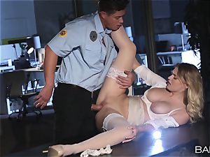 Natalia Starr romped by the night security guard