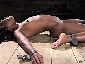 giant ebony backside cropped in tool bondage