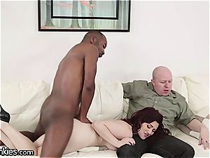 stiffy depraved Jessica cuckolds her hubby with a bbc