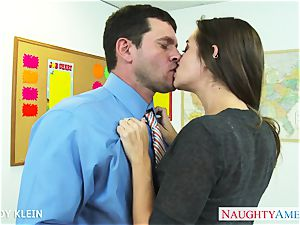 brown-haired student Cassidy Klein shag dick