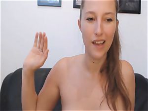 crazy babe splooging cootchie on web cam