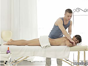She can get some gratification if the masseuse nails great
