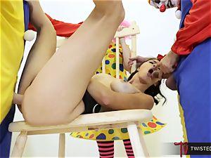Dana Vespoli screwed by creepy enormous penis clowns