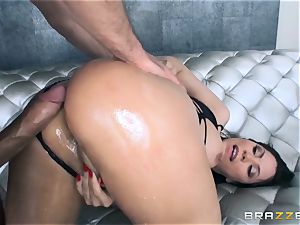 Alexa Nicole gets backside speculum and shaft in her super-hot ass