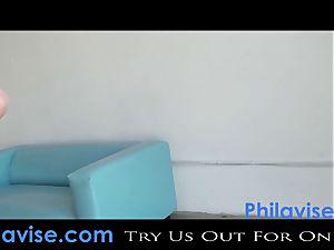 PHILAVISE-Beautiful innate hooter dark-haired Karina milky